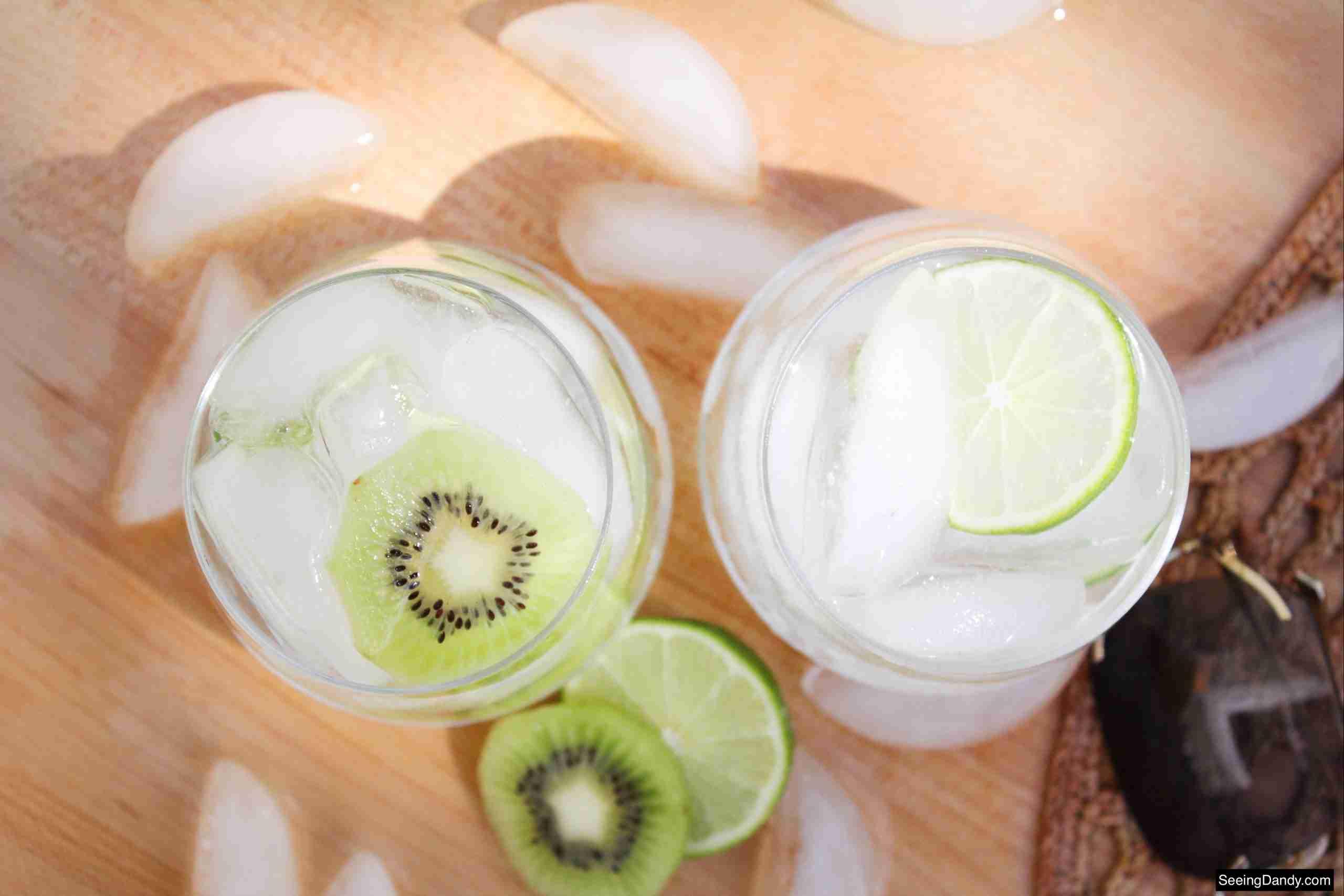 sliced fruit, summer recipes, poolside, patio drink, large sunglasses, melting ice