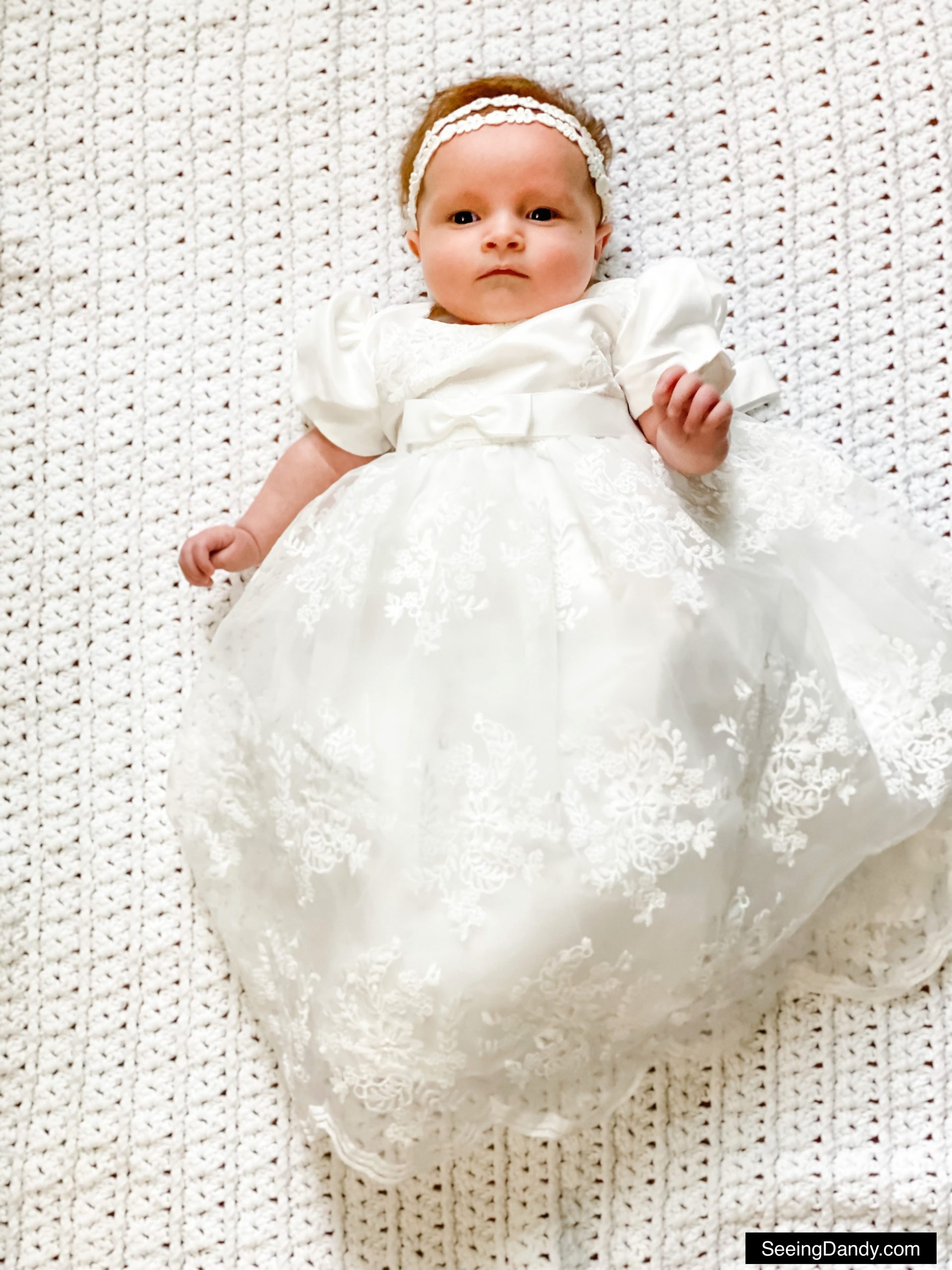 glamulice white lace baby dress, christening dresses, embroidery white baby dress, lds blessing dress, lds blessing gown, white crochet baby blanket, darcy baby girl name
