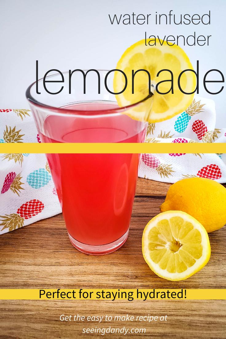 infused water lavender lemonade, summer recipes, patio drink, pineapple towel, wood cutting board, infused waters, infused water recipes, sliced lemons, lemon wedge