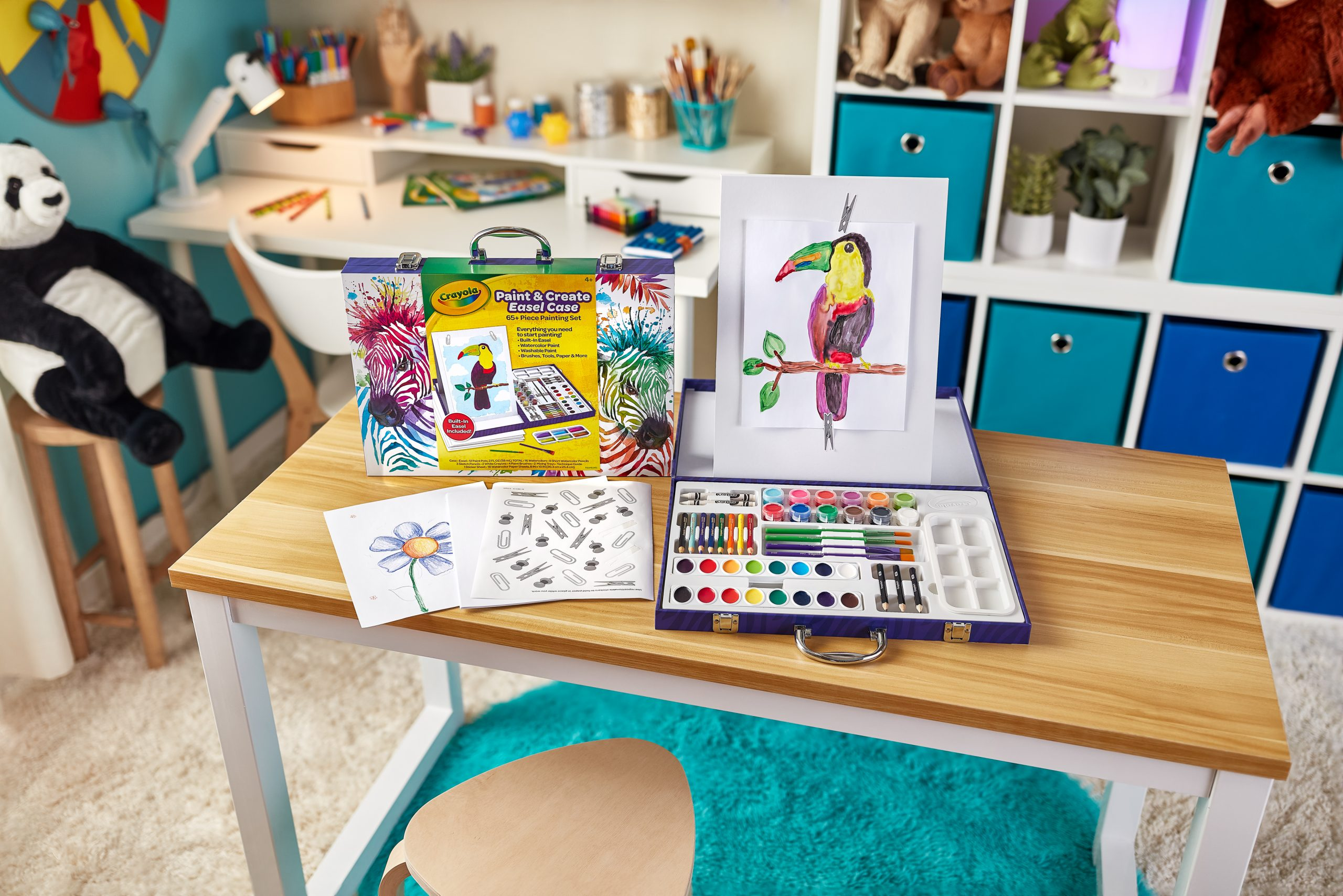 Crayola Paint and Create Easel Art Case, crayola gift ideas, school supplies, creative gift ideas, kids art themed gifts, sweet suite at home