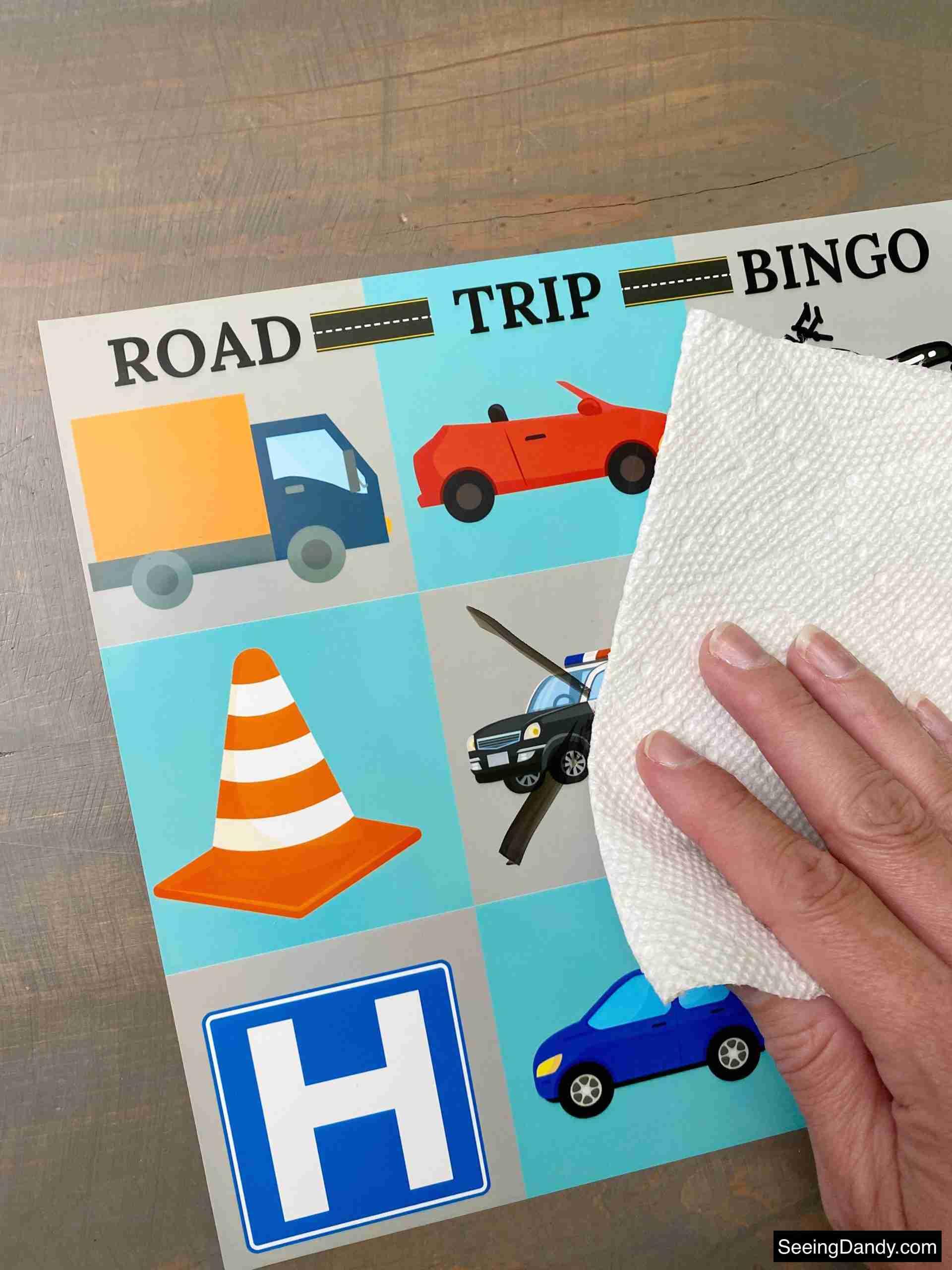 road trip bingo printable, dry erase bingo card, travel bingo, family travel, family vacation, road trip vacation, cross country travel