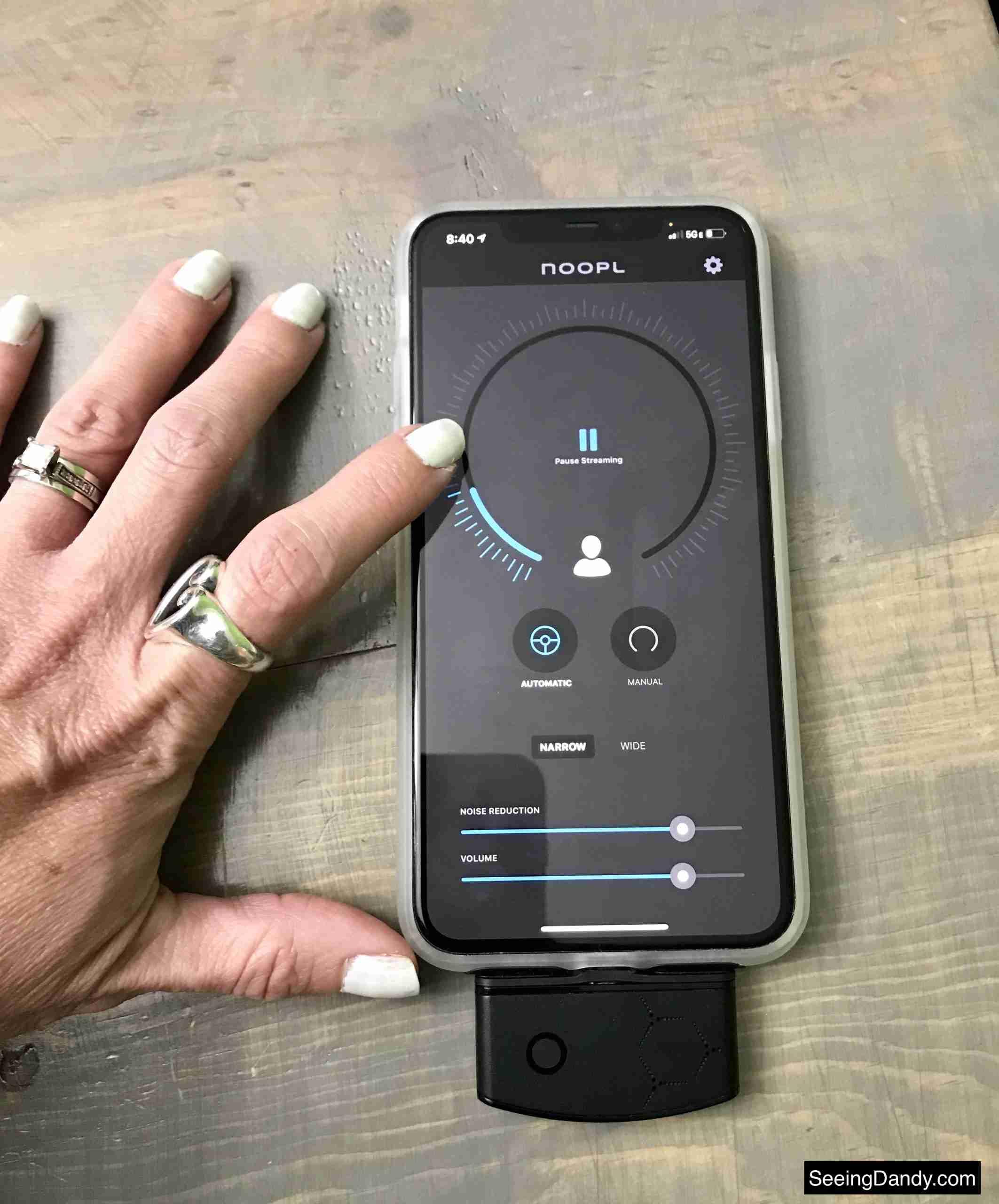 noopl hearing enhancer, hearing device, hearing enhancement, noopl app, noopl device, noopl multi directional microphone, iphone 11 pro