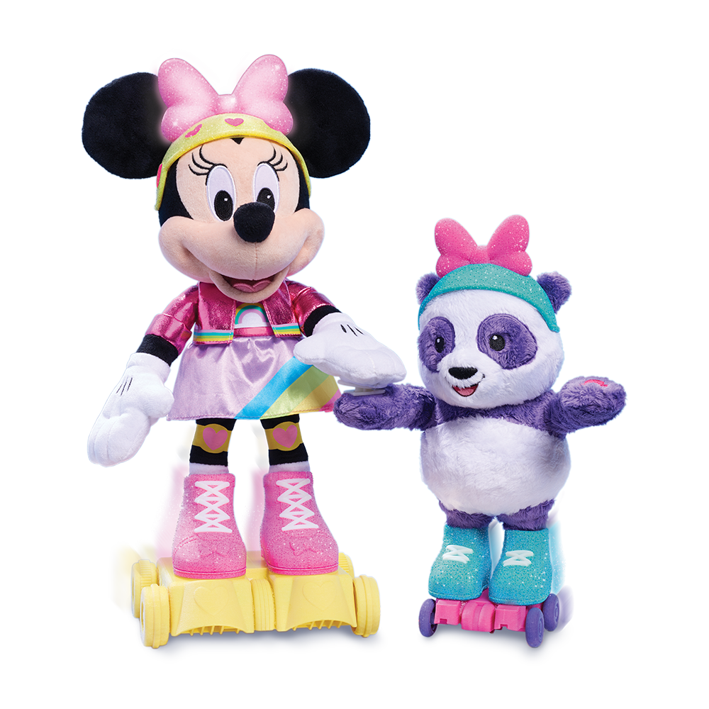 Disney Junior Minnie Mouse Roller Skating Party, dancing minnie mouse, Minnie panda friend, disney toys, kids toys, 2021 toy gift guide, holiday toys, sweet suite at home