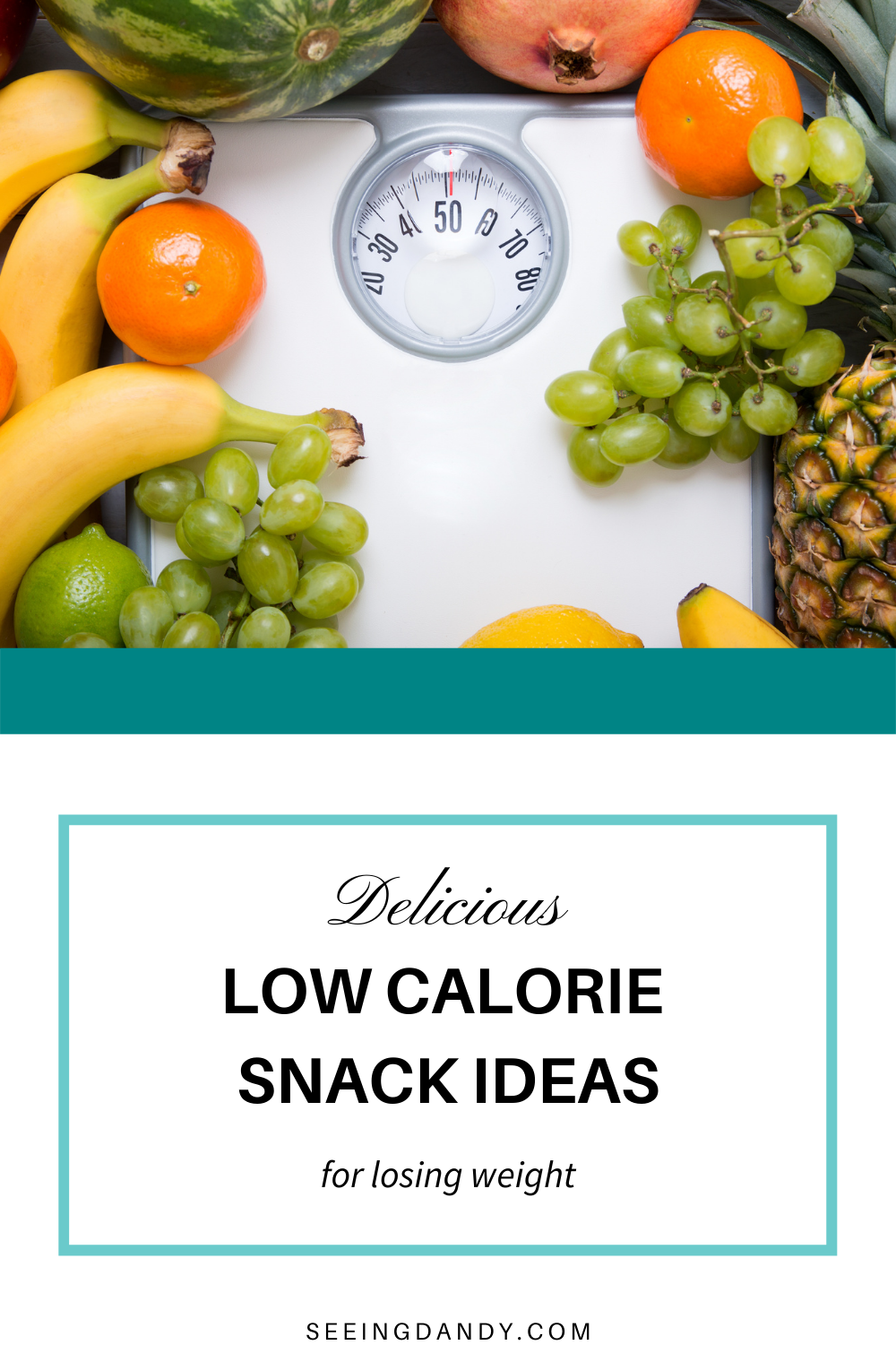 low calorie snack ideas, white bathroom scale, fruit bowl, pineapple, limes, bananas, oranges, green grapes, healthy recipes, losing weight, watermelon, pomegranate
