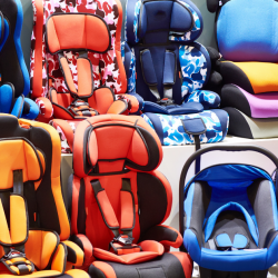 target car seat trade in event, car seat recycle, colorful car seats