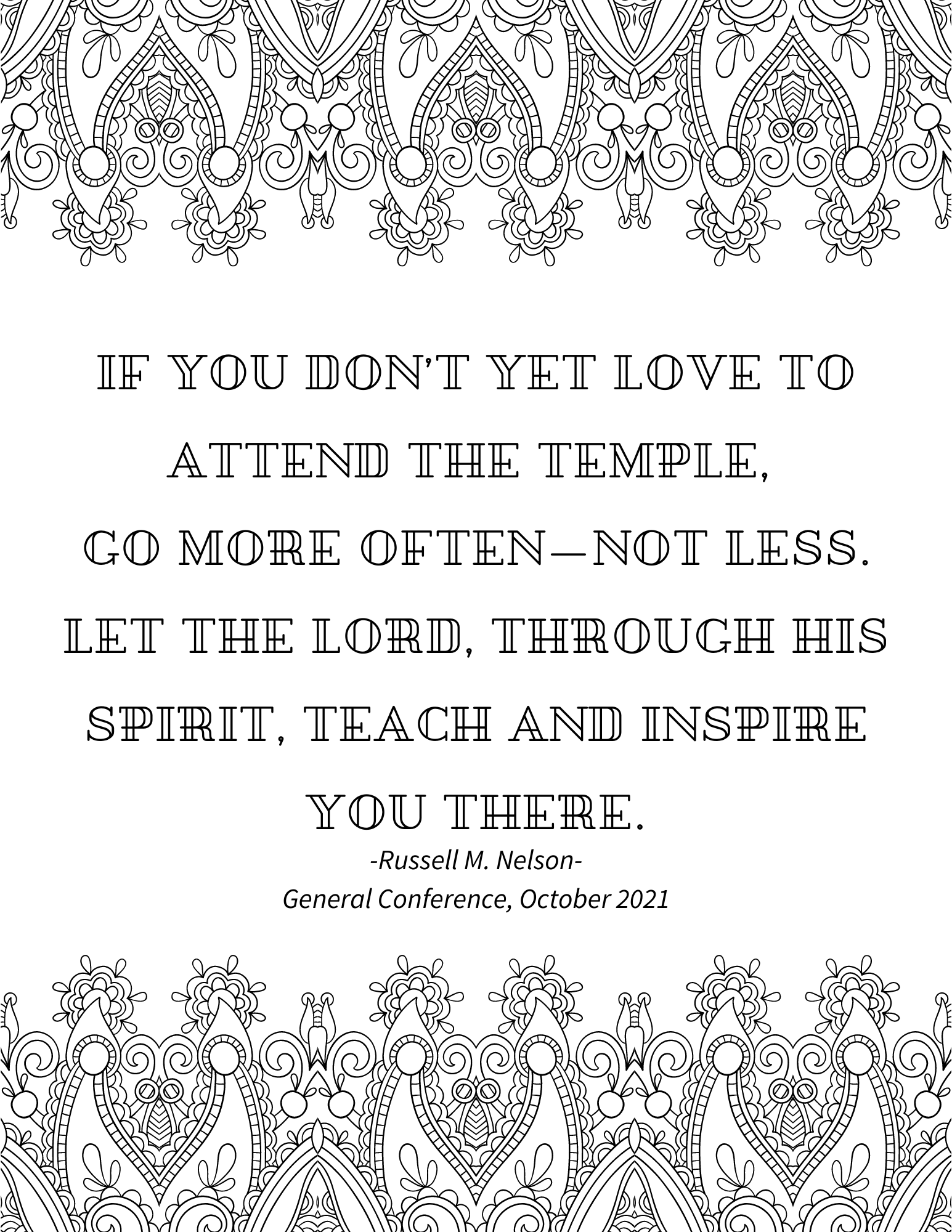 general conference quotes, russell m nelson quote, october 2021 general conference