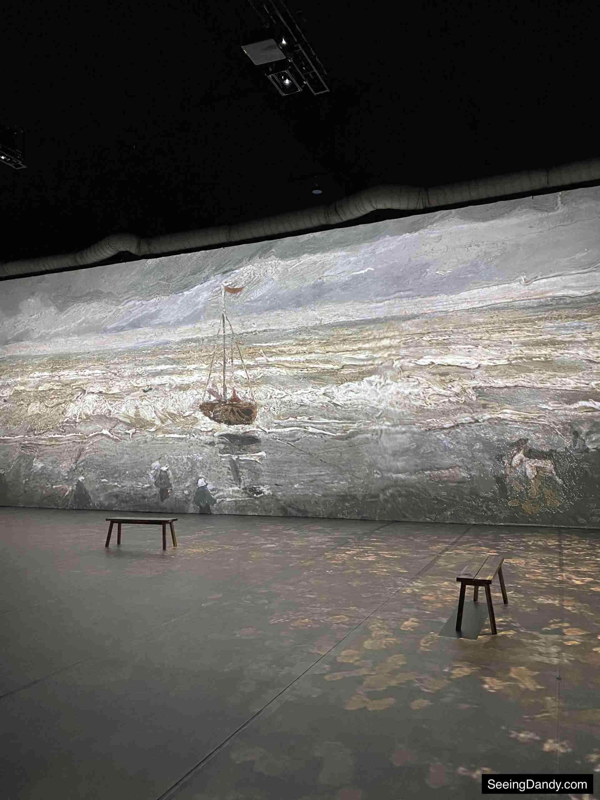 Beach at Scheveningen in Stormy Weather wall at Beyond Van Gogh